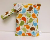 Diaper and Wipes Bag - Wet Bag - Take It On The Go Diaper And Wipes Bag - Urban Zoologie Birds