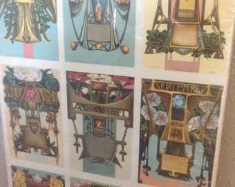 Antique Astrology Postcards Set 1911