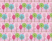 Summer Song 2 by Zoe Pearn for Riley Blake, Summer Song Trees in pink, yard