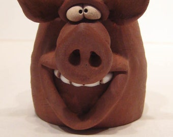 Happy Piggly Wiggly  Pig Shot Mug ... Oink        ...........    e850