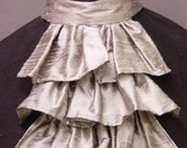 Custom dupioni  Silk Jabot, over 50 colors to choose from!
