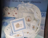 Vintage Cross Stitch Pattern, With Baby In Mind, Leisure Arts Pattern, Leaflet 2401, Late 80's Cross Stich, New Baby, Baptism