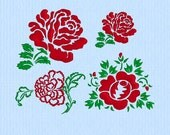 Heirloom Rose - Three Different Designs Machine Embroidery Design Files