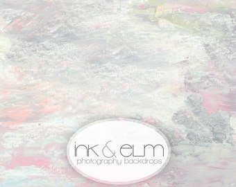 "Photography Backdrop 6x6 Vinyl Photography Backdrop by Ink and Elm Backdrops, Pastel Paints Background, Photo Background, ""Pastel Grunge"""