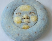 The Boy In The Moon - Uniquely Ethereal Hand Carved Wood Wall Hanging ~ Original