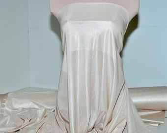 "Nylon Tricot stretch fabric 40 denier. Beige . lingerie, slips, panties, wedding, decor, bridal, crafts 108"" wide 100% nylon"