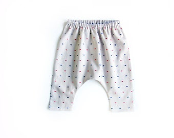 Baby harem pants, tufted cotton baby trousers