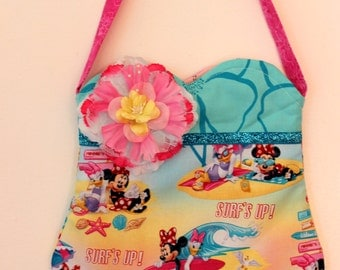 Minnie Mouse and Daffy Duck Summer Surf Purse