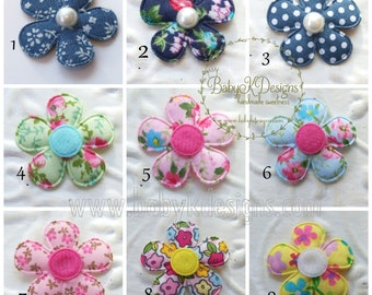 9 Flower Newborn Clips U Pick  / Infant Snap Clips / Girls Hair Clips / Baby Bow / Hairbow Infant Cips / Baby First Bow No Slip Hair Clips