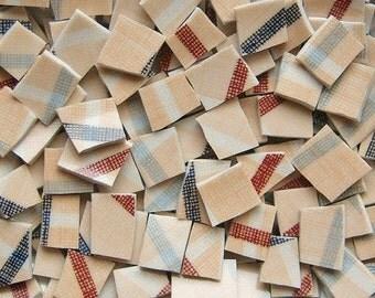 Mosaic Tiles--Peach Plaid-100 Tiles