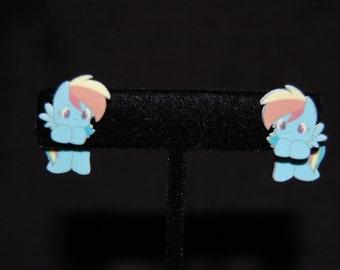 My Little Pony Rainbow Dash Hanging Earrings