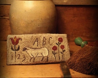 Mailed Paper Pattern Folk Art Sheep with weavers cloth