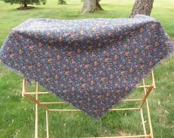 Multicolor Floral Fabric Shawl