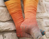 Autumn Forest Gradient Stripes Matching Socks Set, 2-50g Cakes, Greatest of Ease (dyed to order)