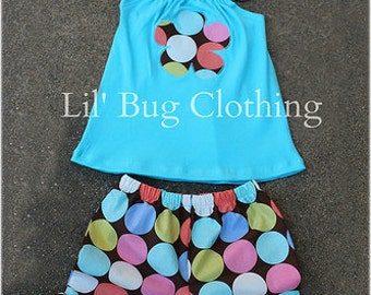Custom Boutique Clothing Groovy  Disco Dot Summer Short and Halter Top