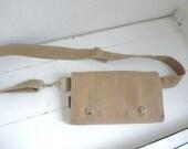 modern fanny pack Field tan wheat waxed canvas birds hip pack smart phone mini messenger waist wallet MINI messenger Festival Travel minimal