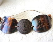 Trust the Journey Patina Compass Spoon Bowl Cuff from Girl Ran Away With the Spoon