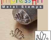 Butterfly Swirl 2 Metal Design Stamp 6mm - ImpressArt Jewelers Tool for Stamping