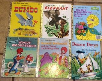 Vintage Golden Books SET OF 6