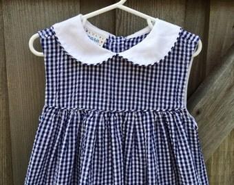 Vintage Sailor Dress Girls 5/6