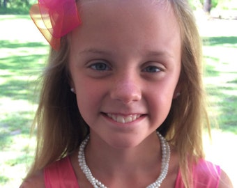Pearl Flowergirl Necklace