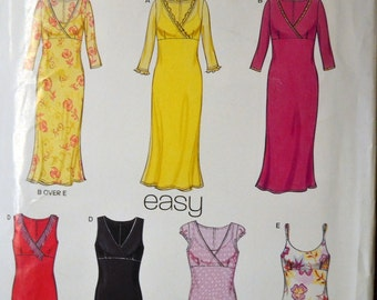 Sewing Pattern New Look 6040 Misses' Dresses Sizes 8-18  Uncut Complete