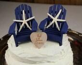 Starfish Cake Topper, Starfish Wedding, Beach Cake, Chair Cake Toppers, Beach, Nautical