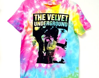 Velvet Underground Tie Dye T-Shirt Crop Top