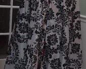 Black/Black Taffeta Gothic Cape/Hooded Fully Lined Cloak/Wrap-Formal-Wedding/Bridal