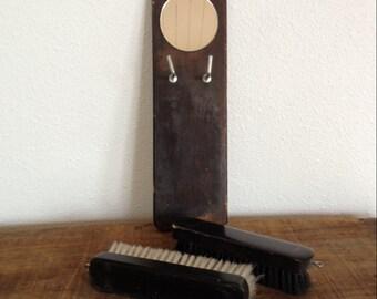 Vintage Mirror and Brush Set,  Mens Grooming Set, Japan