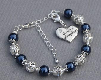 Granddaughter Gift, Granddaughter Charm Bracelet, Kids Gift, Gift from Grandma, Gift from Grandpa, Jewelry for Granddaughter, Gift Under 25