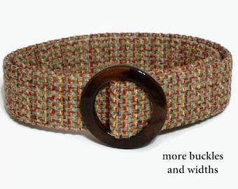 Brown Belt Womens Woven Belt Cloth Belt D-ring Belt Wide Belt Narrow Belt / Brown Blue Woven Ladies Belt small to plus size (Hot Springs)