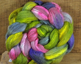 Merino/Silk Top for Handspinning - 'A Little Colour'