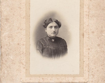 Vintage Antique 1900 old French real photography  black & white  women