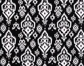 CLEARANCE!! 1 yard Premier Prints Fabric - 1 yd - Black Raji - Ikat - Premier Prints Raji Black and White Home Decor Lightweight Canvas