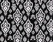 CLEARANCE!! 1 yard Premier Prints Fabric - 1 yd - Black Raji - Ikat - Premier Prints Raji Black and White Home Decor Lightweight Canvas
