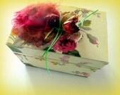 Box - gift wrap, jewelry box- Rose