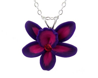 Orchid Crystal Necklace - More Colors Available