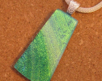 Dichroic Pendant - Dichroic Necklace - Dichroic Jewelry - Fused Glass Pendant - Glass Pendant - Fused Glass Jewelry
