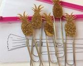 PINEAPPLE glitter gold paper clip