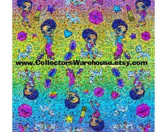Lisa Frank Glamour Girl  Sticker Sheet prismatic starlet