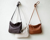 free shipping - Wristlet Clutch small - crossbody bag - with clip on strap - small leather bag - select leather color in drop down menu