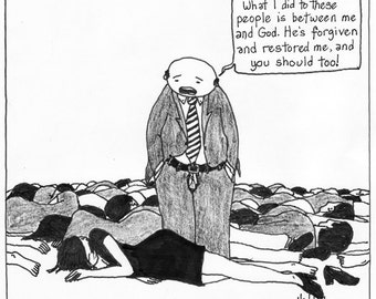 Abuse Excuse CARTOON reproduction PRINT