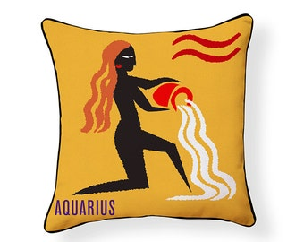 ZODIAC PILLOW: Aquarius