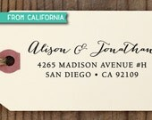 SALE custom address STAMP with proof from USA, Eco Friendly Self-Inking stamp, return address stamp, custom stamp, calligraphy stamp 73