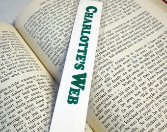 Charlotte's Web Recycled Bookmark