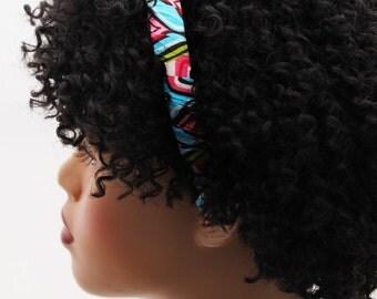 Headband, Natural Hair Headband, Hair Accessories, Hair Jewelry, Natural Hair, Hair Decor, Akilah Colorful Fabric Headband