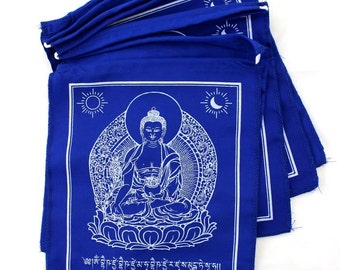 All Blue Medicine Buddha Prayer Flags