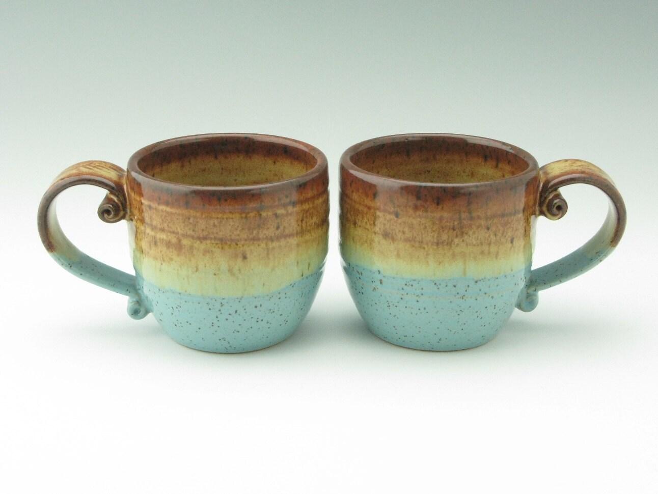 Handmade Pottery Mug Stoneware Coffee Mug By Twistedriverclay