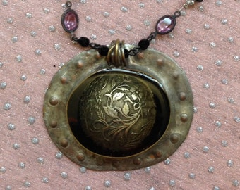 The Prize...one of a kind, mixed media necklace